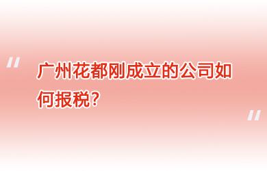 广州花都刚成立的公司如何报税?
