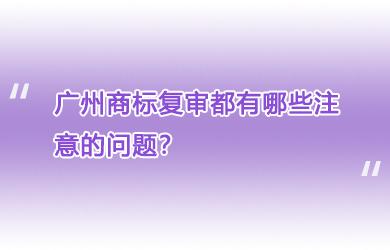 广州商标复审都有哪些注意的问题?